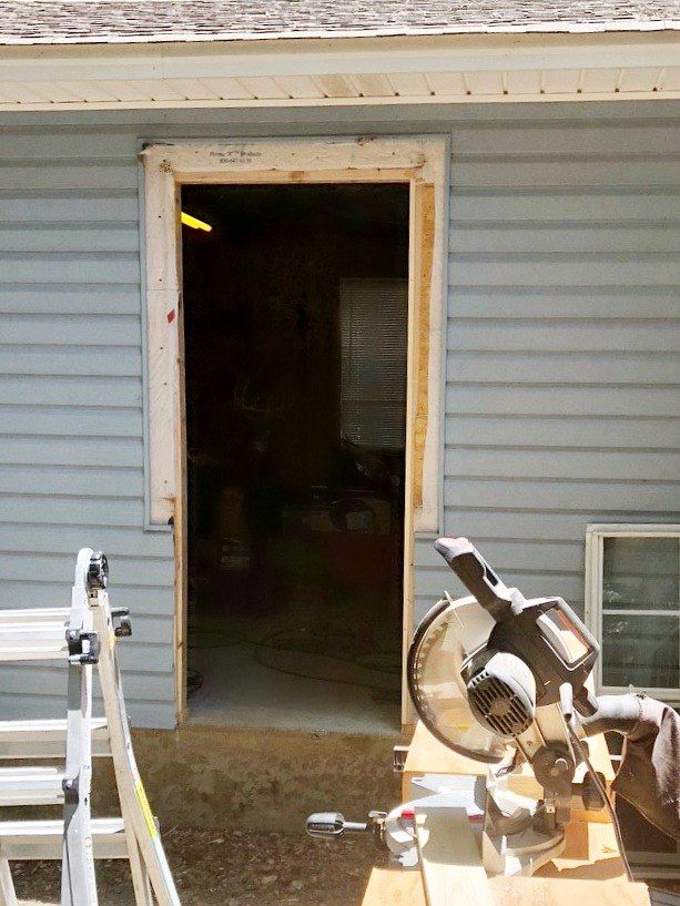 How To Convert A Window Into A Door Garage Door Makeover Doors Exterior Doors