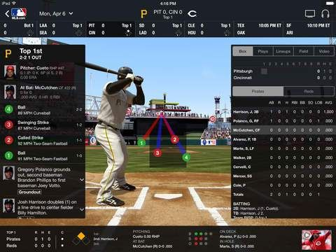 Baseball in the Math Classroom MLB App for Stats