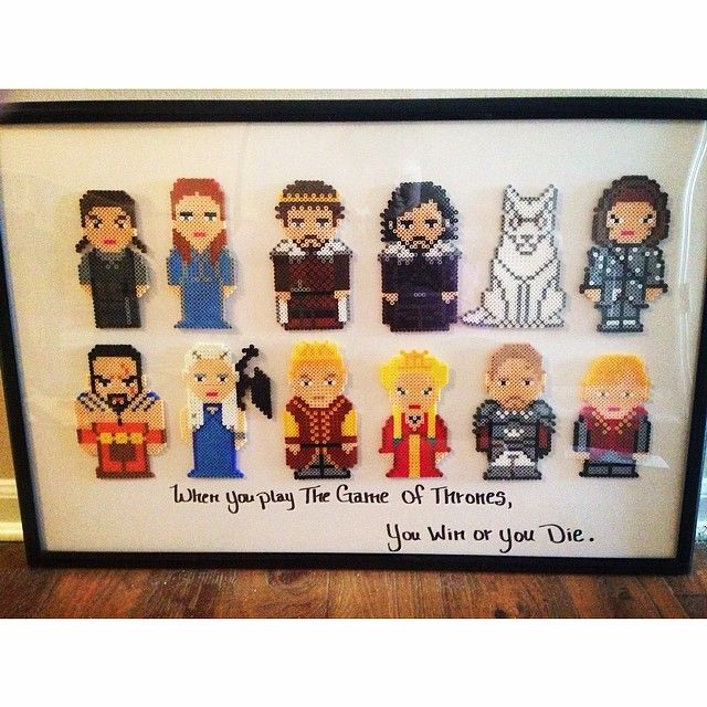Game of Thrones cast perler beads by jessieromines