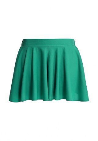 Юбка-шорты GLAMOROUS выполнены из легкого крепового материала зеленого цвета. Детали: свободный крой, широкая резинка на талии. http://j.mp/WNwWOY