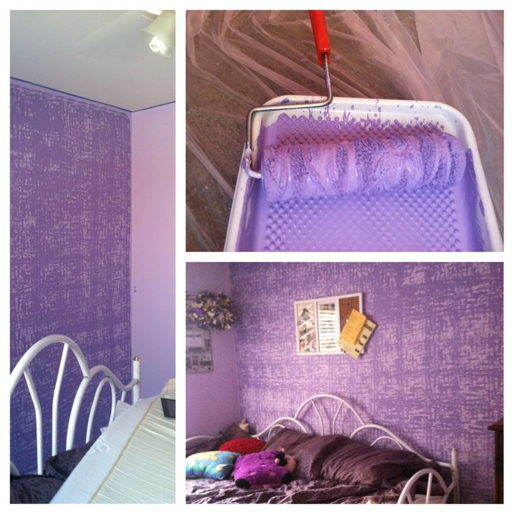 Paint Walls One Color Tie Yarn Around Roller And Paint Wall S With A Darker Color For My