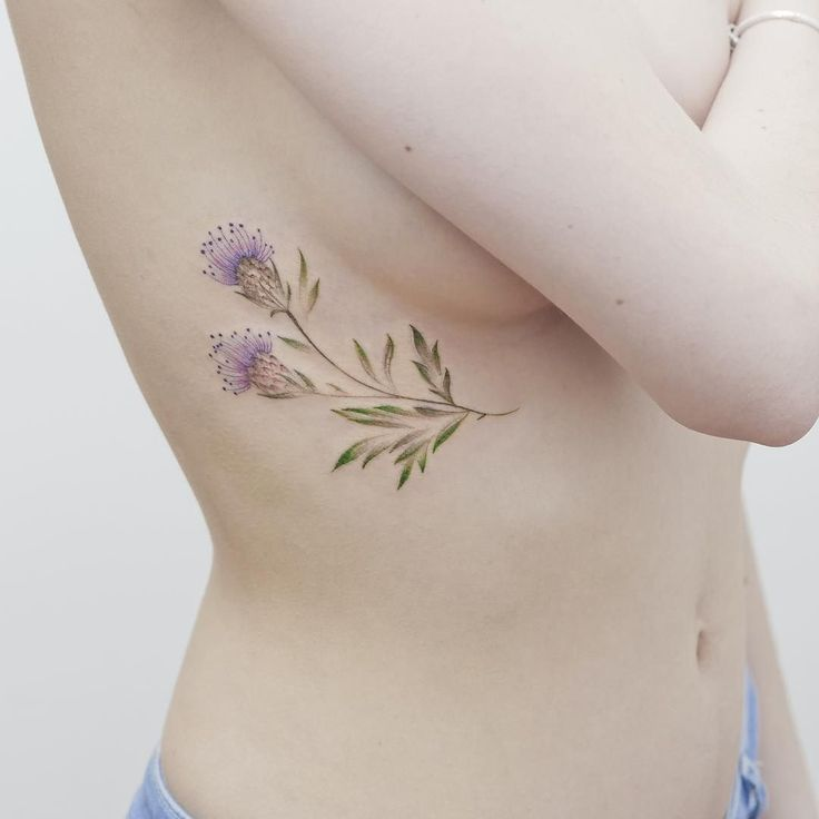 Thistle for her first tattoo