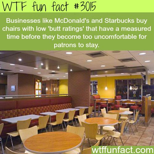 Why are McDonald's chairs so uncomfortable -  WTF fun facts