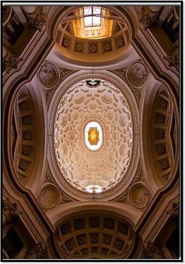 Cúpula de la  IGLESIA DE SAN CARLO DE LAS CUATRO FUENTES - Roma (Italia) Arquitecto: Francesco Borromini