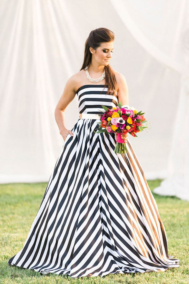 366 best wedding floral and stripes dots images on pinterest kate spade inspired wedding with a black and white stripe bridal gown photography by http dhlflorist Gallery