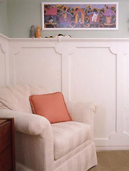 Quarter rounds in the corners makes a simple statement. I'm in love. How to install wainscoting yourself.