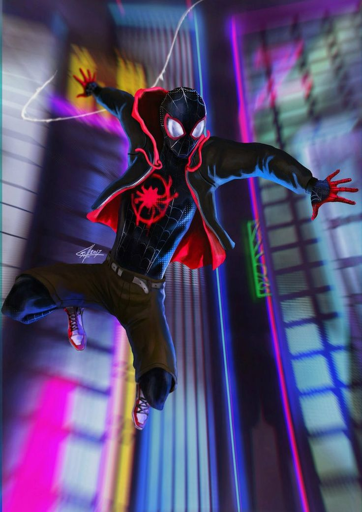 A still from the upcoming animated Spider-Man movie