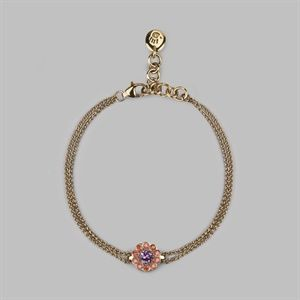 Daisy Cluster Bracelet in 18 Carat Yellow Gold, Pink Sapphire & Orange Sapphires - Women's Unique Jewellery - Stephen Einhorn London