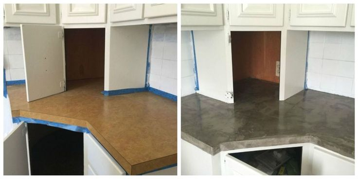 This Brilliant DIY is the Easiest Way to Fake Concrete Countertops - How to Make Look with Cement