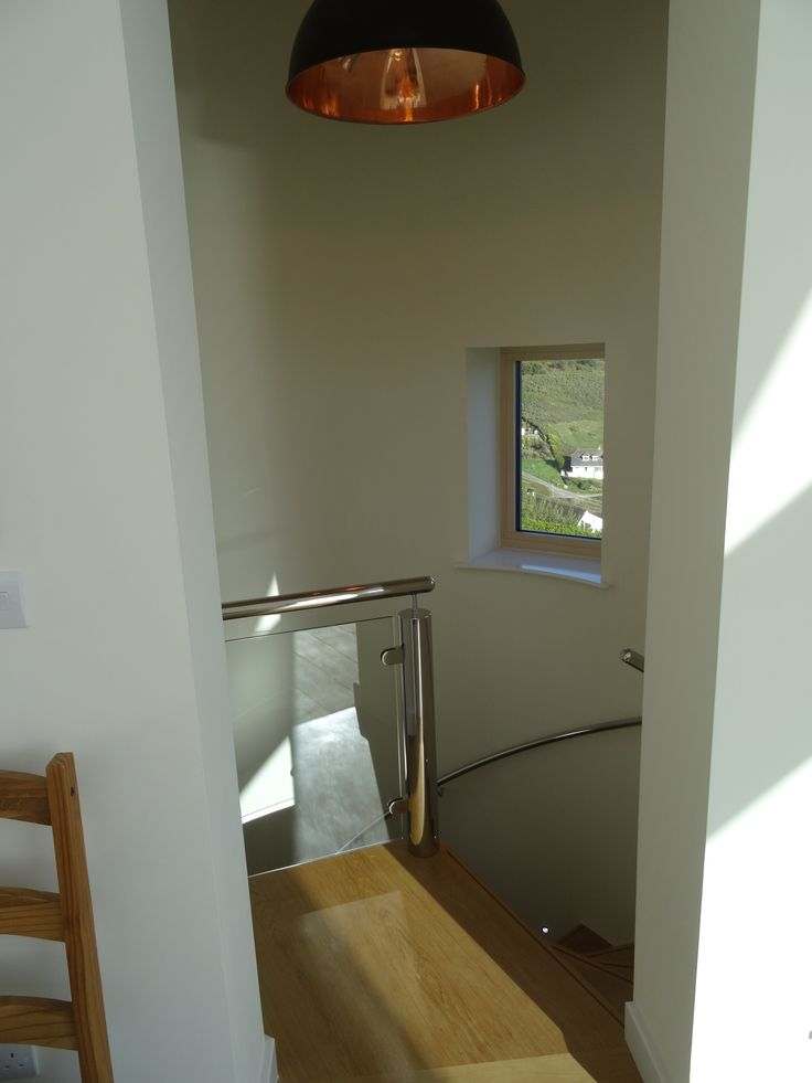 Stainless steel handrail and balustrade by 100% stainless and large Davey copper spun light