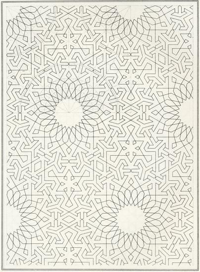 Pattern in Islamic Art - BOU 139, from J. Bourgoin, 'Les Elements de l'art Arabe', Paris, 1879