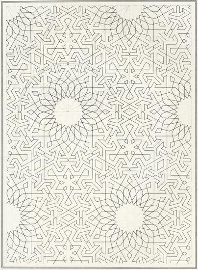 Pattern in Islamic Art - BOU 139, from J. Bourgoin, 'Les Elements de l'art Arabe', Paris, 1879