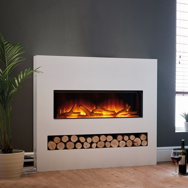 Flamerite Gotham 900 Electric Fire With Freestanding Suite Electric Fireplace Electric Fire Suites Electric Fires