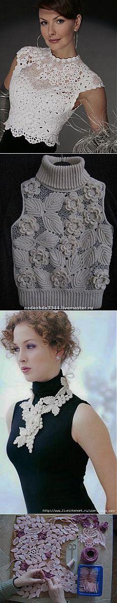 Очень много интересного на этой доске  в Pinterest Crochet Irish в Pinterest