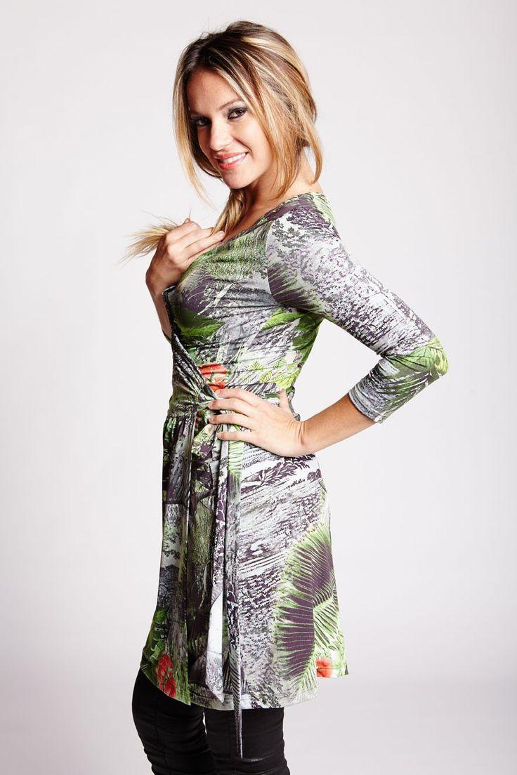 MILA DRESS - TROPICAL GREEN - by Judy Design