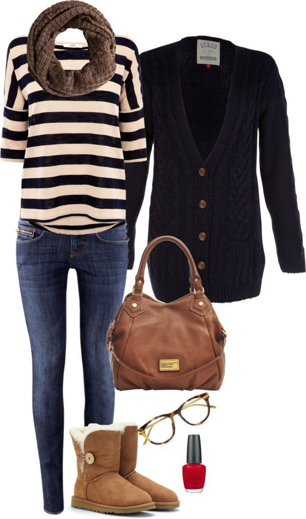 """""""Ugg Navy Outfit"""" by anamadurga on Polyvore #high_fashion #outfits tenue style marin"""