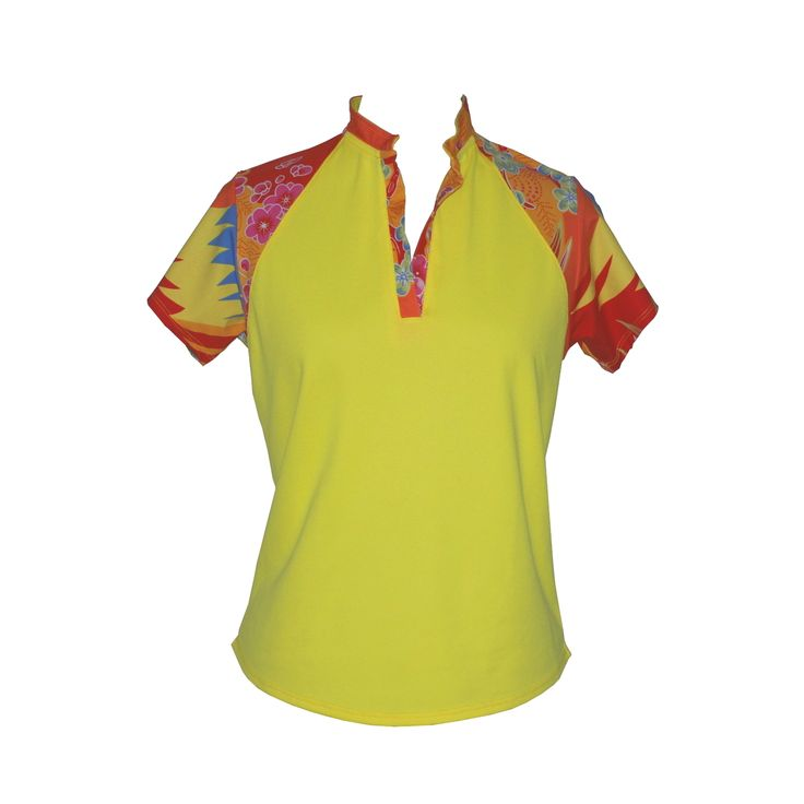 (http://www.ladygolfwear.com.au/sunshine-yellow-golf-shirt/)