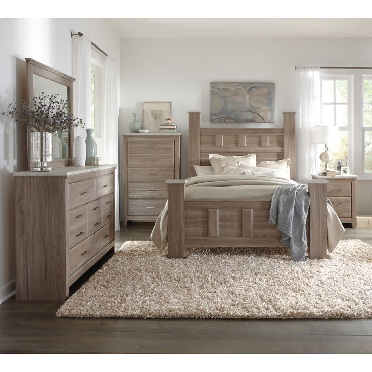 furniture bed images. Transitional Character With Its Bold Proportions Weathered Wood Finish And Cool Concrete Textured Tops Complete 6 Pieces Of Bedroom Furniture Bed Images