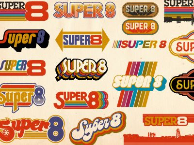 This selection of 1970s-style logos shows the range of feeling vintage logos can evoke, even when restricted to a certain decade.