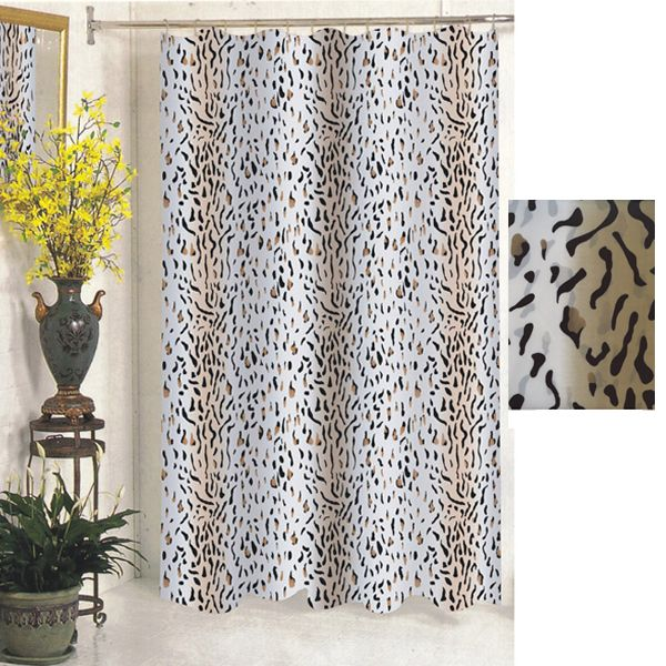Extra Wide Shower Curtains Leopard Print Shower Curtain Fabric