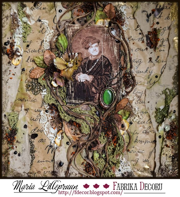 """Vintage layout """"The Reval Merchant"""" by Maria Lillepruun for Fabrika Decoru"""