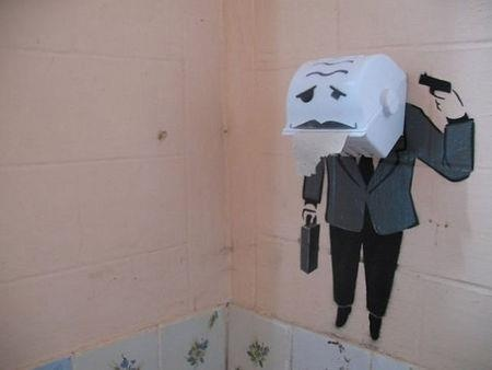 Street Art: Wall Art, Graffiti Artworks, Funny Pictures, Awesome Funny, Street Art, Bathroom Wall, The Offices, Funny Photos, Paper Towels