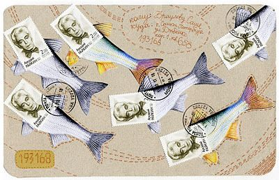 Fish postcard from Fish Mail Art Blog