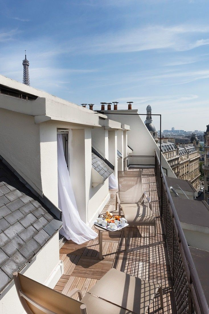 Maison FL is located in the elegant 16th Arrondissement. Many rooms feature a large balcony overlooking the Paris rooftops, #Jetsetter