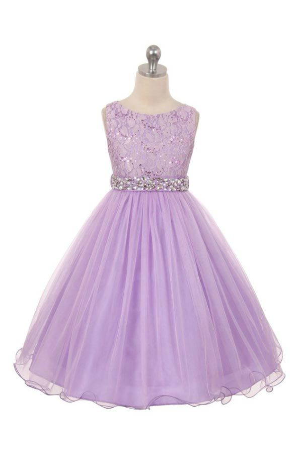 Girls Dress Style 340 - LILAC Sparkly Tulle Dress with Beaded Waist  Classic beauty with extra flare. We love this style because it can be worn from event to event. So much versatility! This is a style that is timeless and can be passed from one generation to the next. The sleeveless tulle dress has a gorgeous bead embellished waist that gives the style pizzazz.  http://www.flowergirldressforless.com/mm5/merchant.mvc?Screen=PROD&Product_Code=MB_340L&Store_Code=Flower-Girl&Category_..