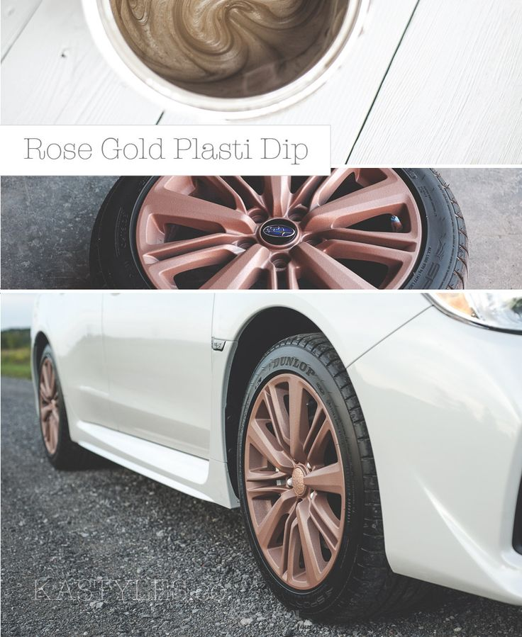 Diy Paint Your Rims Rose Gold Plasti Dip Lable Rubber Spray
