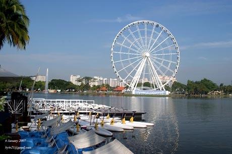 The Classic fun at the lake. Ferris Wheel.