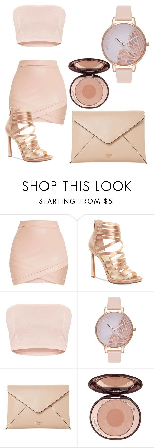 """""""Nude"""" by ajk34985 ❤ liked on Polyvore featuring Gabriella, Jessica Simpson, Olivia Burton and Dune"""