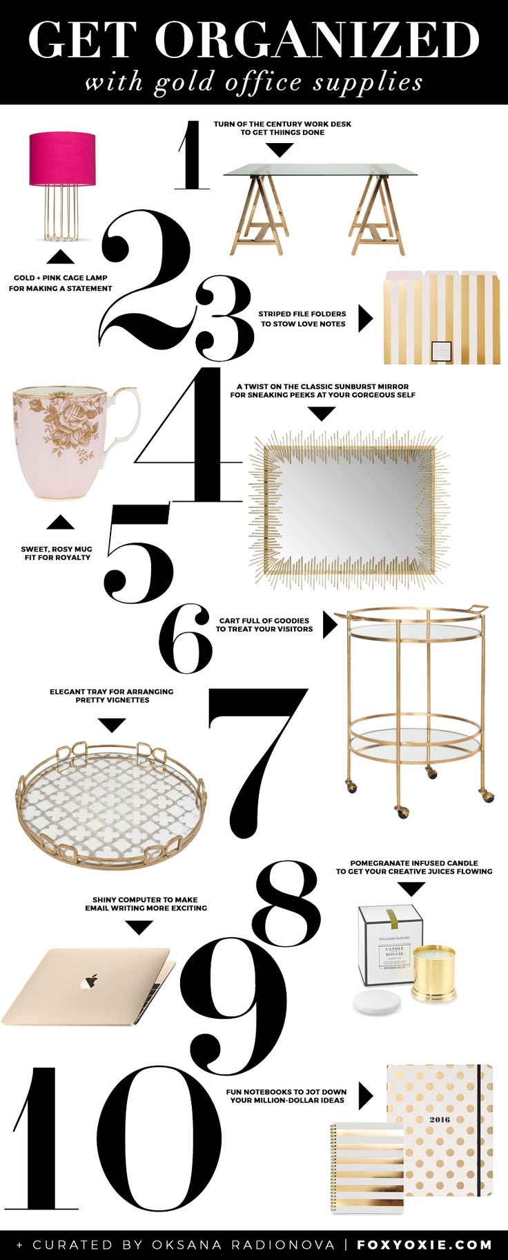 Best 25+ Gold Office Supplies Ideas On Pinterest | Chic Cubicle Decor, Chic  Desk And Wall Planner