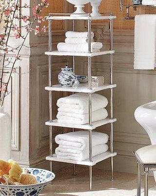 Pin by jmac on tower tiered shelving pinterest for Small bathroom etagere