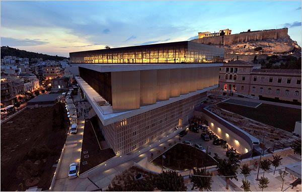 Dusk. The new Acropolis Museum. #greece #athens