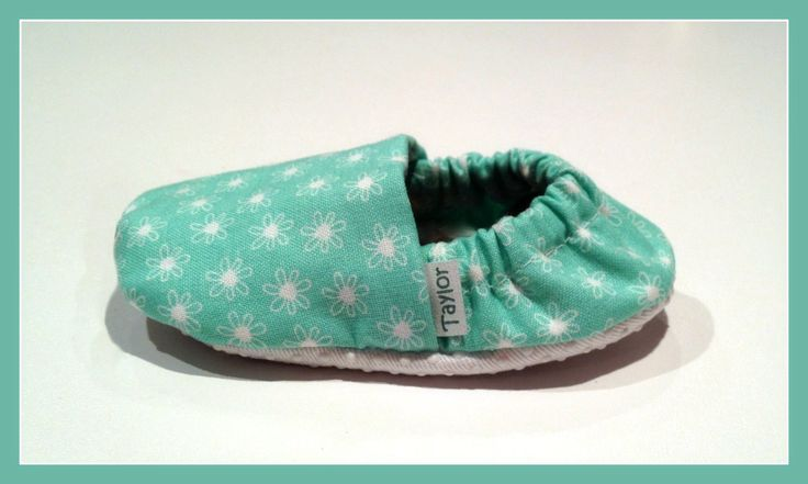 Bella Baby Booties in light teal and white flowers  www.bellababybooties.weebly.com