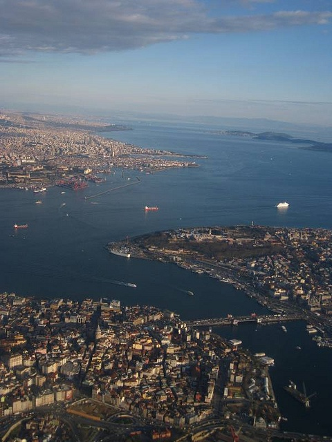 Istanbul's Old City from the air