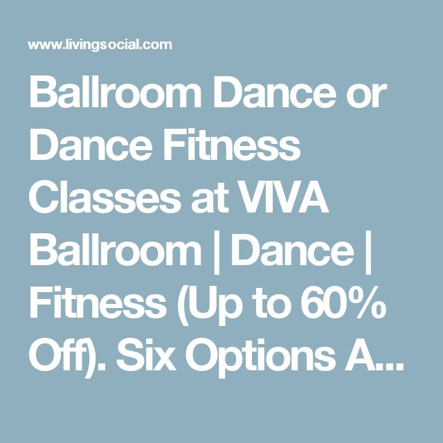 Ballroom Dance or Dance Fitness Classes at VIVA Ballroom | Dance | Fitness (Up to 60% Off). Six Options Available.