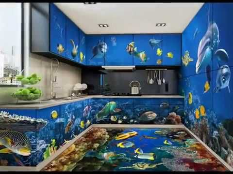 Mind Blowing 3d Flooring Tiles Youtube Bathroom Design Kitchen