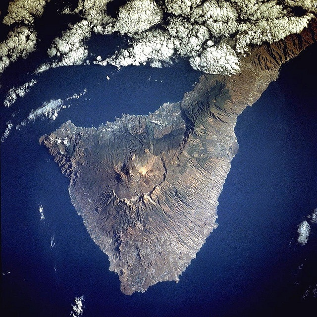 Tenerife - flying past the great Mt. Tiede is simply amazing, watching it peak through the clouds never ceases to take my breath away