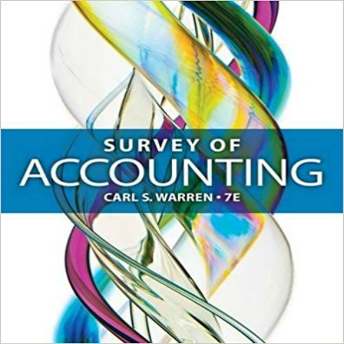 32 best solutions manual images on pinterest textbook manual and download solutions manual for survey of accounting 7th edition by warren pdf free 97812851834801285183487 fandeluxe Choice Image