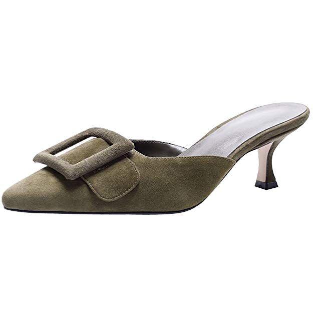 Amazon Finds Ayercony Slide Sandal Woman S Buckle Mule Slipper