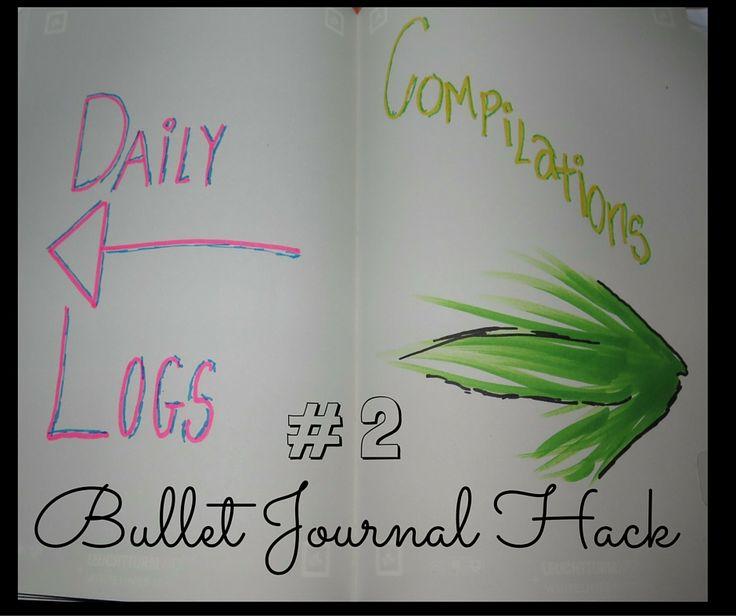 Bullet Journal Compilations and Dailies apart - Bullet Journal Hack 2 - Nipenda - Life + Love