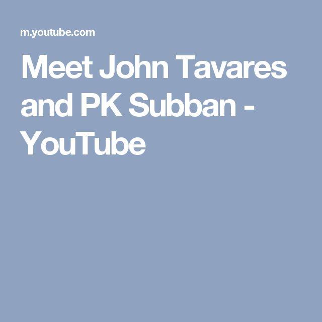 Meet John Tavares and PK Subban - YouTube