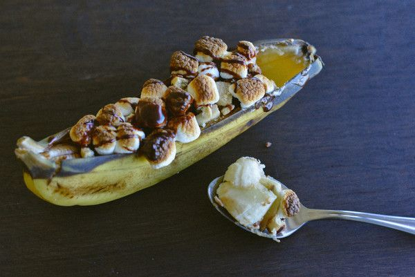 Grilled Banana Fudge Boats | Hatchery