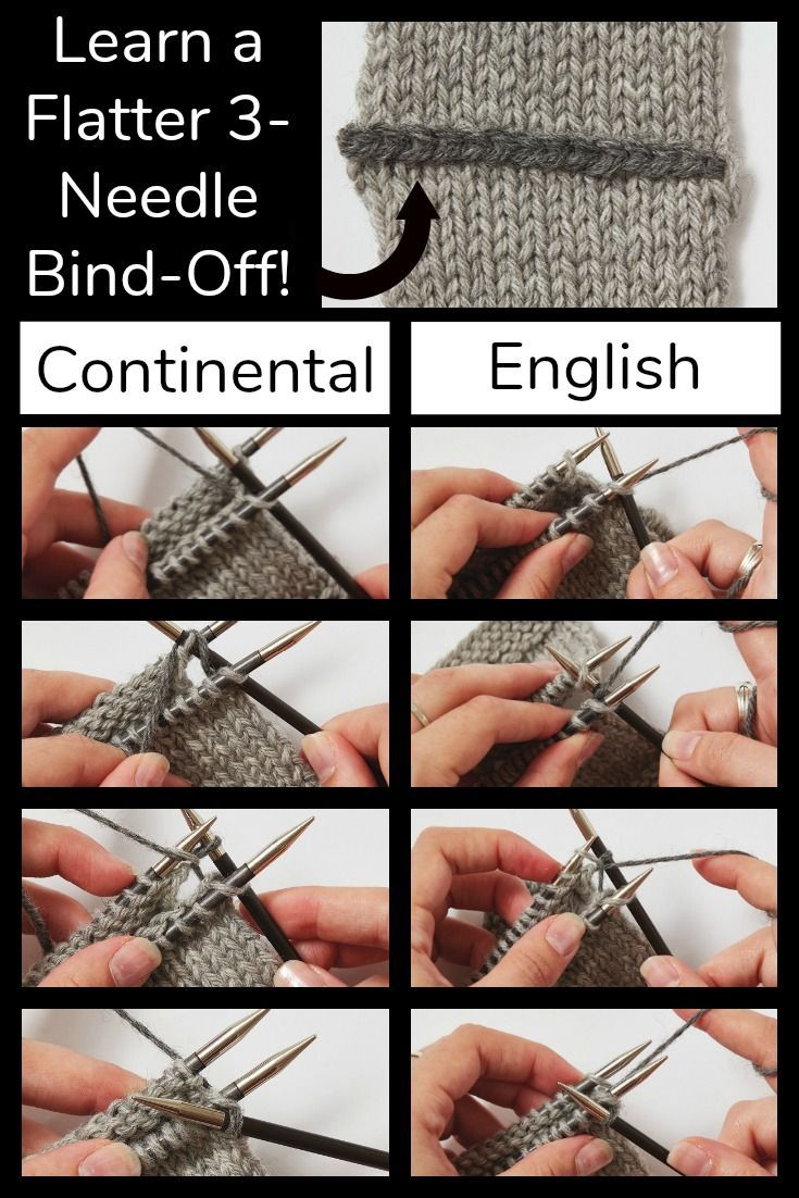 Finessing The Three Needle Bind Off Bind Off Knitting Knitting Tutorial Bind Off