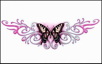 I like the idea of a monarch butterfly tattoo.  This would look so pretty on my lower back.