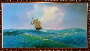 Бирюзовое море - Морской пейзаж <- Картины маслом <- Картины - Каталог   Универсальный интернет-магазин подарков и сувениров