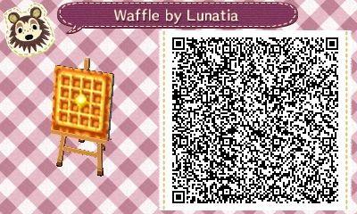 Waffle Pattern - Animal Crossing New Leaf QR Code