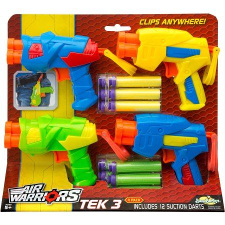 Buzz Bee Toys Air Warriors Tek 3, 4pk, Assorted